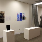 The Call + Response exhibit features collaborations between writers and visual artists of George Mason University.