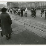 Waiting for the Streetcar, Leipzig. by Page Chichester. 1990.