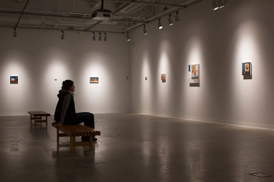 Installation view of Nathan Loda's MFA exhibit, up through the end of this week. Source: Nathan Loda.
