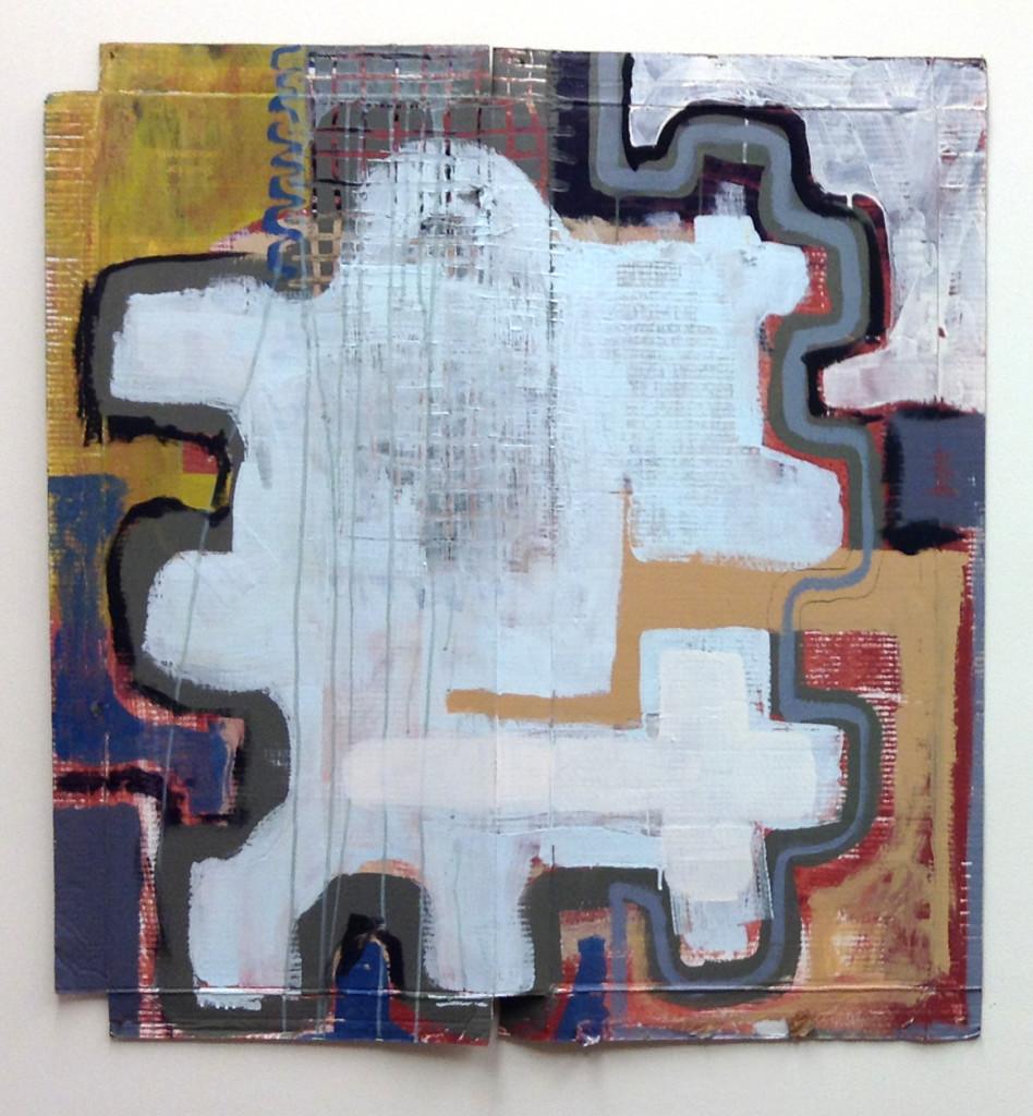 Precise Doubt, by Jay Hendrick. 2012, arcylic on cardboard.
