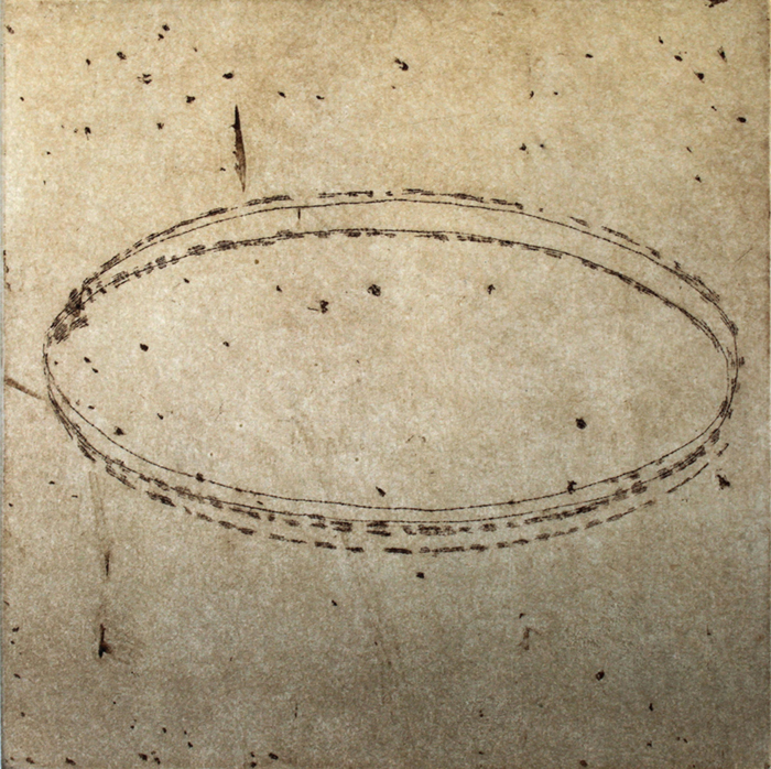 ORBIT (EV 1/30), by Anne Smith. 2014, etching with chine collé.