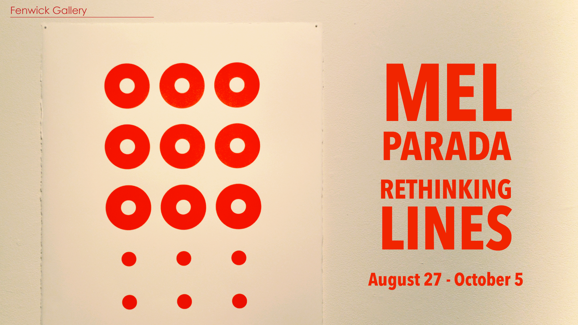Exhibition image for Mel Parada: Rethinking Lines