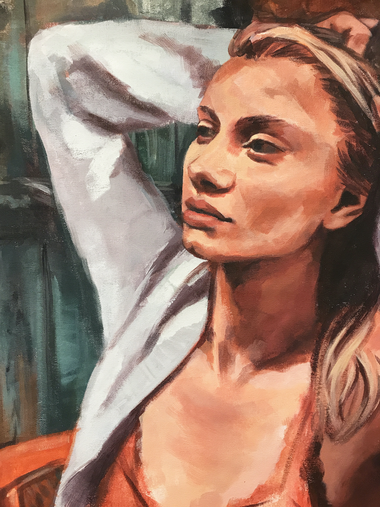 Portrait painting of a young woman,